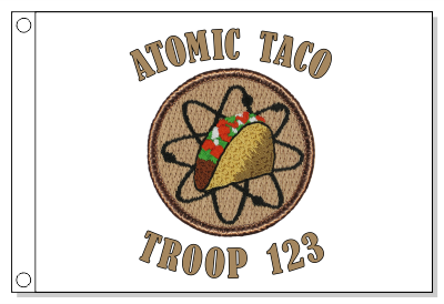 Atomic Taco Patrol Flag