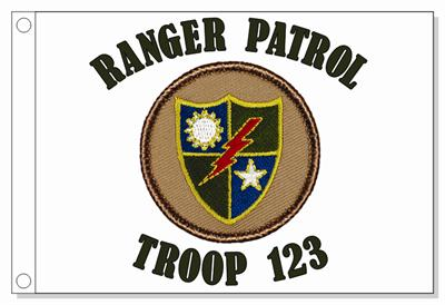 75Th Rangers Patrol Flag