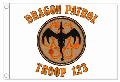 Atomic Dragon Patrol Flag