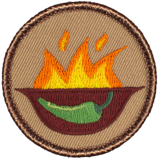 Flaming Jalapeno Bowl Patrol Patch