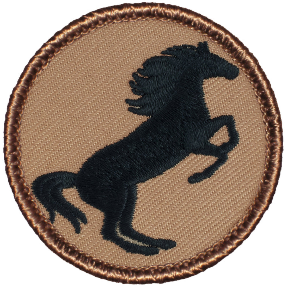 Black Stallion Patrol Patch - Standard