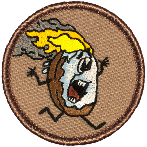 Flaming Donut Patrol Patch