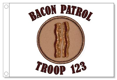 Bacon Patrol Flag