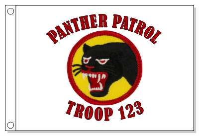 67th Infantry Patrol Flag - Red & Yellow