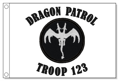 Two Headed Glow Dragon Patrol Flag Flag - Not Glow in the Dark