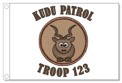 Cartoon Kudu Patrol Flag