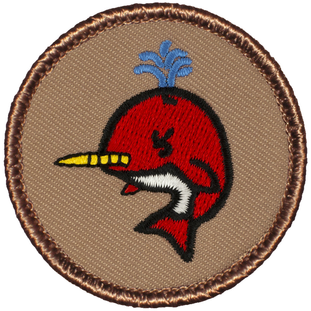 Red Narwhal Patrol Patch