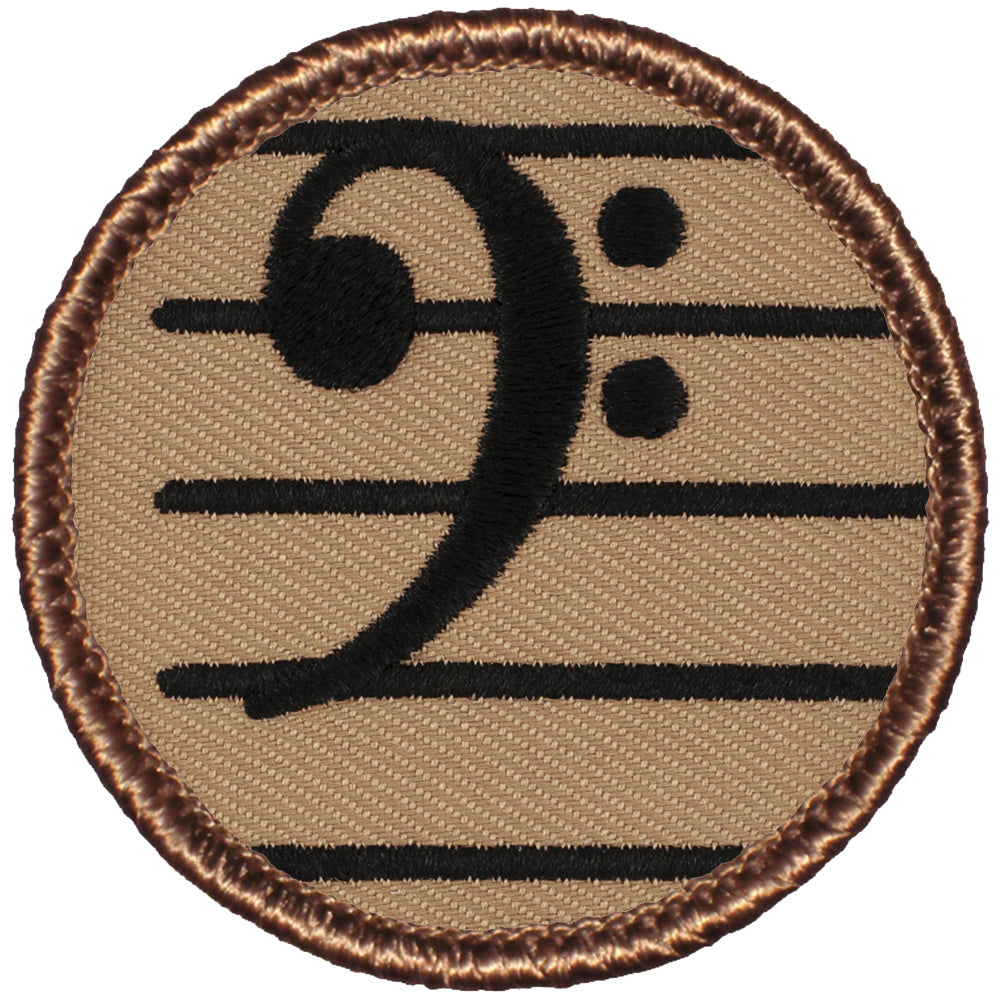 Bass Clef Patrol Patch