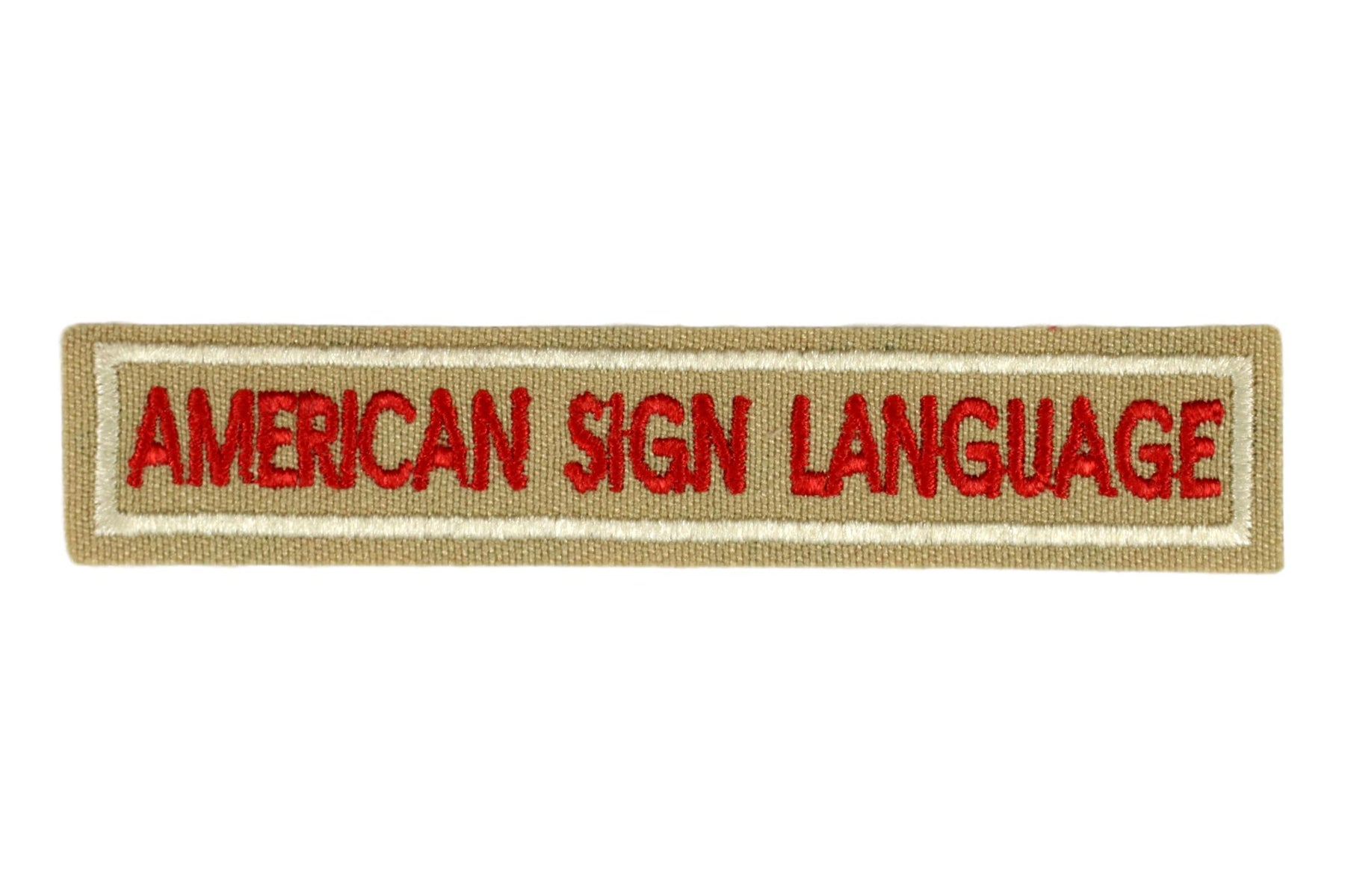 American Sign Language Interpreter Strip Tan