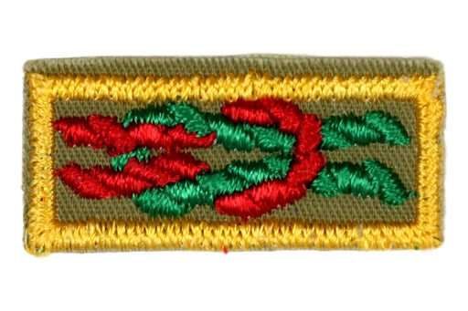 Arrow of Light Award Knot on Khaki