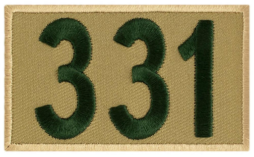 Khaki/Green Custom BSA Troop Number Patches