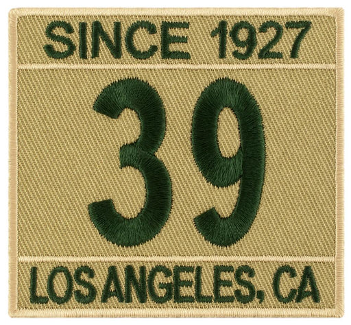 Khaki/Green Two-Caption Custom Scout Troop Numbers