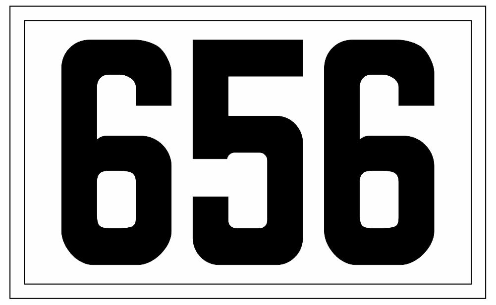 Black on White Custom BSA Sea Scout Ship Number Patches