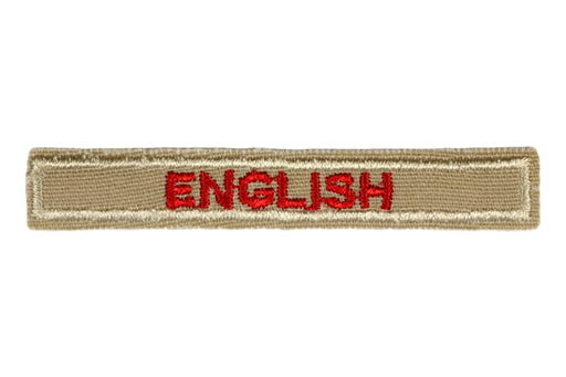 English Interpreter Strip Tan