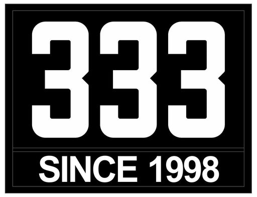White on Black Caption Custom Sea Scout Ship Numbers