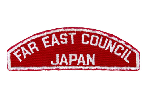 Far East - Japan Red and White Council Strip
