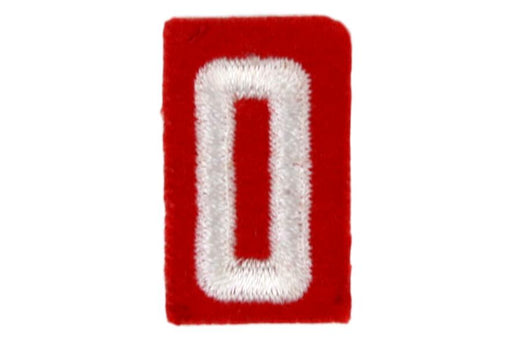 0 Felt Unit Number White on Red