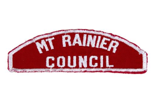 MT Rainier Red and white Council Strip