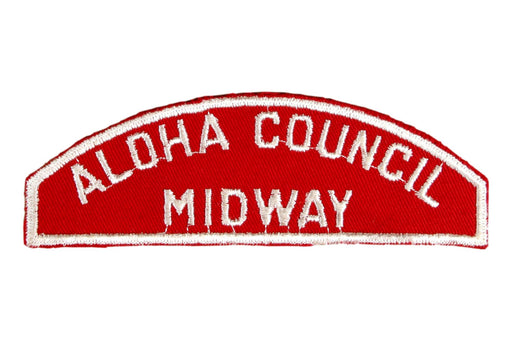 Aloha Council/Midway District Red and White Council Strip