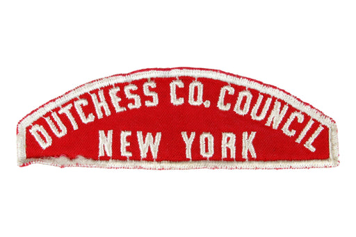 Dutchess Co. Red and White Council Strip
