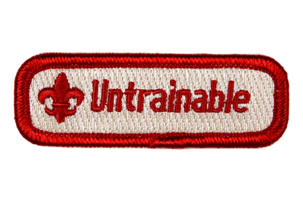 Untrainable Trained Strip Red
