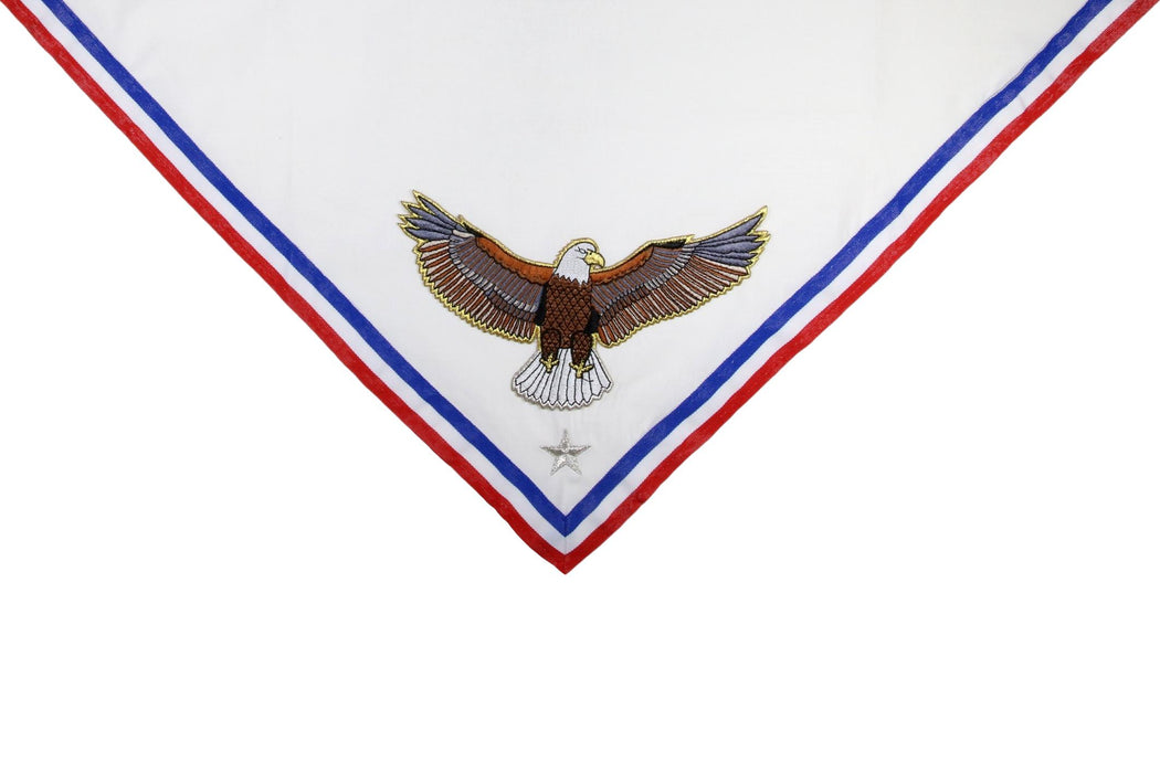 Custom Embroidered Neckerchief for Eagle Scout Mothers - Appliqued Eagle