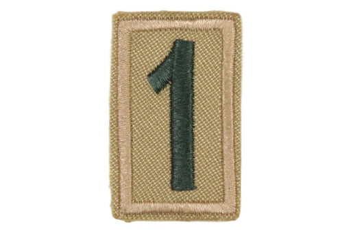 1 Unit Number Khaki on Tan