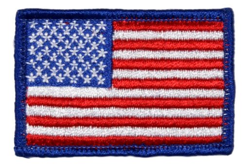 American Flag Plastic Back Rolled Edge