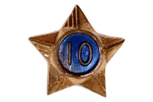 10 Year Service Star Screw Back 1920s-1940s