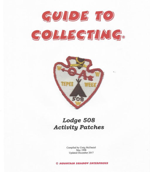 Guide to Collecting Lodge 508 Activity Patches