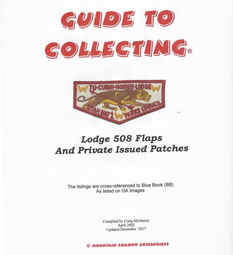 Guide to Collecting Lodge 508 Flaps and Private Issued Patches