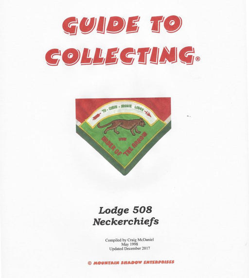 Guide to Collecting Lodge 508 Neckerchiefs