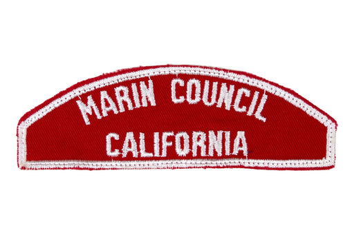 Marin Red and White Council Strip