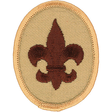 Boy Scout Rank Patch Tan 1989 - 2002 Clear Plastic Back