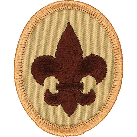 Boy Scout Rank Patch Tan 2002 - 2010 Scout Stuff Back