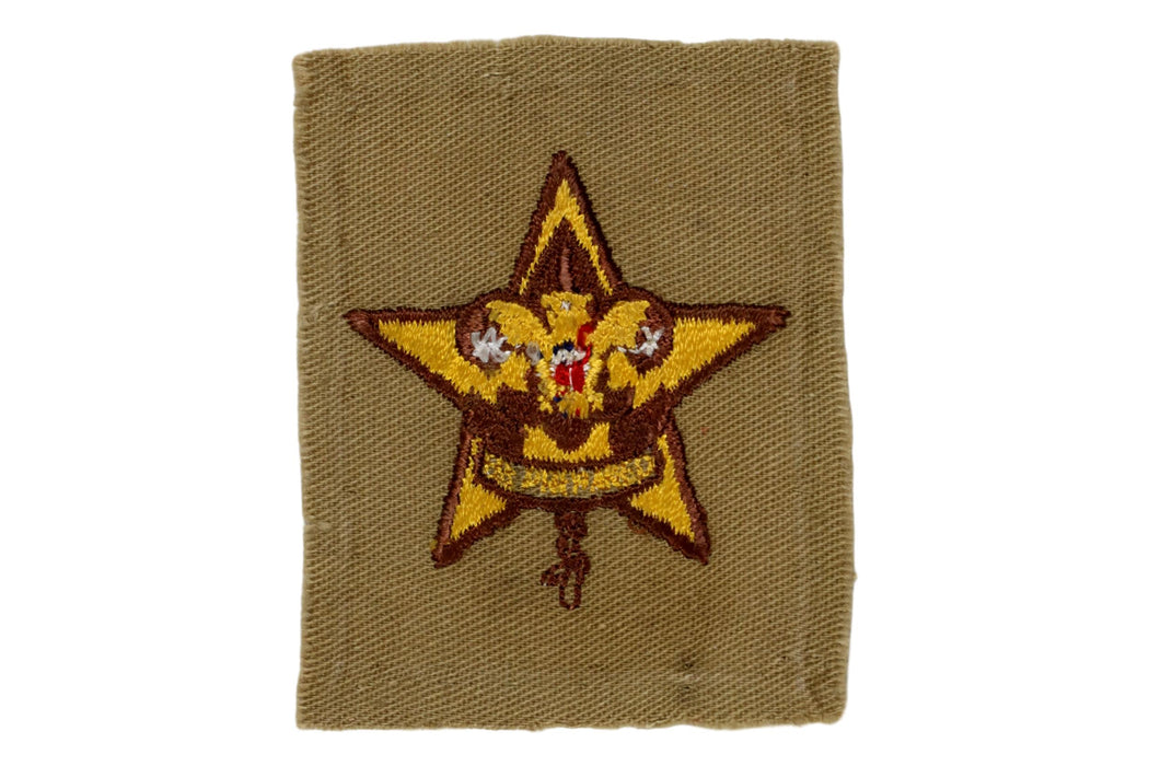 Star Rank Patch 1940s Type 10D Fine Twill