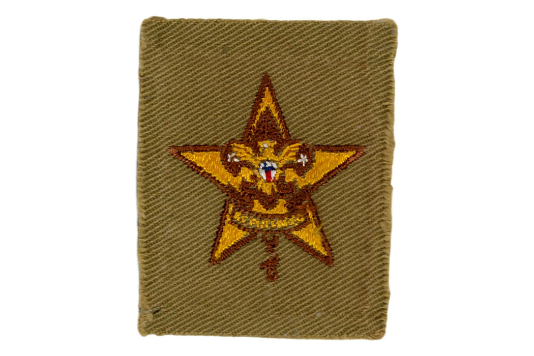 Star Rank Patch 1930s Type 9A
