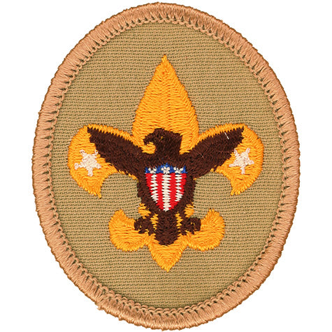 Tenderfoot Rank Patch Tan 1989-2006 Clear Plastic Back