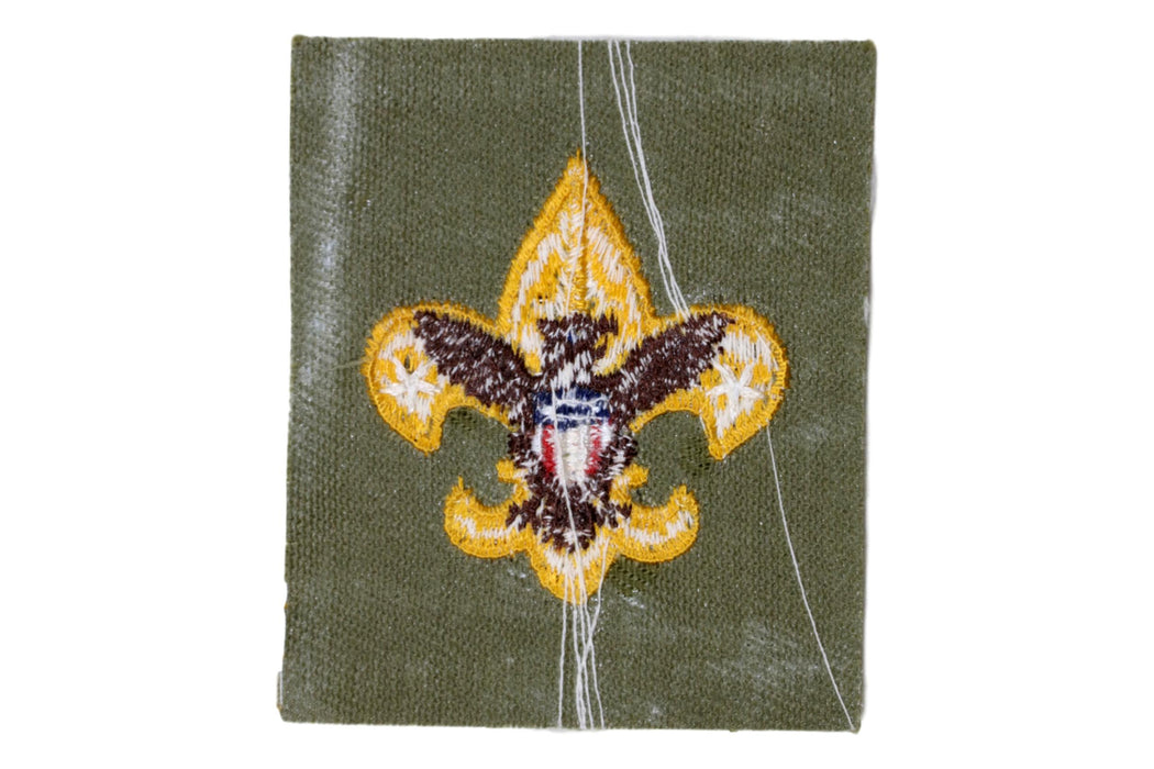 Tenderfoot Rank Patch 1950s Plain Back Type 5C