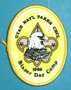 1986 Utah National Parks Blazer Day Camp Patch
