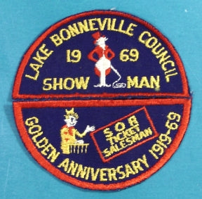 Lake Bonneville Patch Scout O Rama 1969
