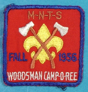 Woodsman Camp O Ree 1956 Patch