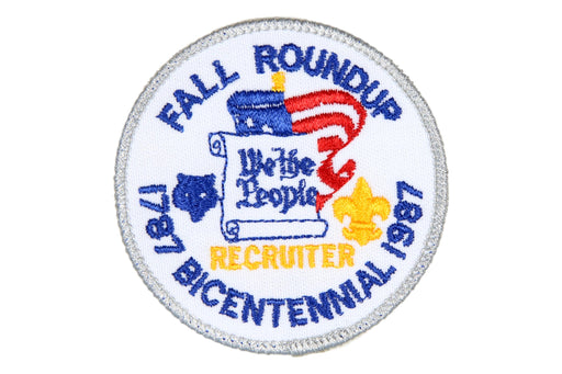 Recruiter Patch 1987 Bicentennial Fall Roundup