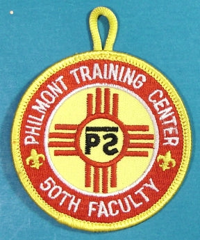 Philmont Training Center Patch 50th Faculty