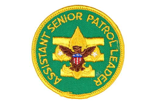 Assistant Senior Patrol Leader Patch 1970s Gauze Back