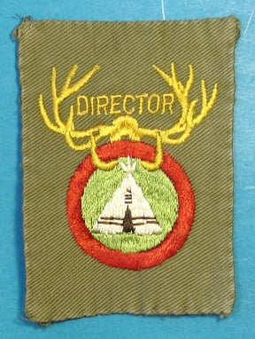 National Camping School Patch 1930s  - 1940s Director