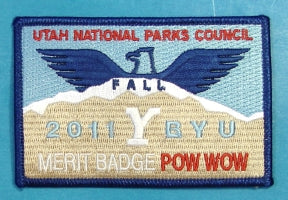 2011 BYU Merit Badge Pow Wow Patch Fall