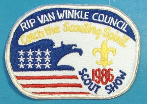 Rip Van Winkle Scout Show Patch 1986