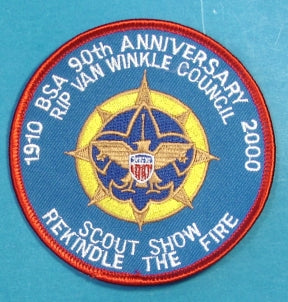 Rip Van Winkle Scout Show Patch 2000
