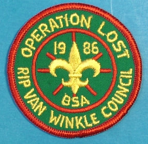 Rip Van Winkle Operation Lost Patch 1986